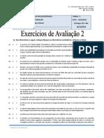 Exercício de Avaliação 2