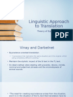 Linguistic Approach to Translation