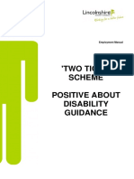 Two Ticks Positive About Disability Guidance
