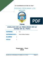 Monografia Analisis de La Realidad de La Niñez en El Peru