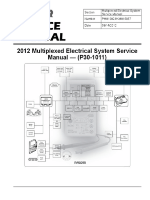 paccar 2010 multiplexed electrical system sevice manual (p30 1011 Kenworth T800 Wiring Diagram