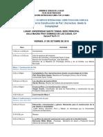 Agenda Simposio Psicologia