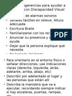 Algunas Sugerencias Para Ayudar a Personas Con Discapacidad Visual