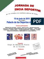 Cartel XIV Jornada de Convivencia Deportiva