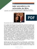 31 REFLEXION La Mujer Pecadora y Misericordia de Dios P. Juan J. Ferrán