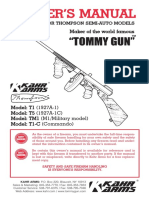 Owners Manual to Be Used for Tompson Semi-Auto Models