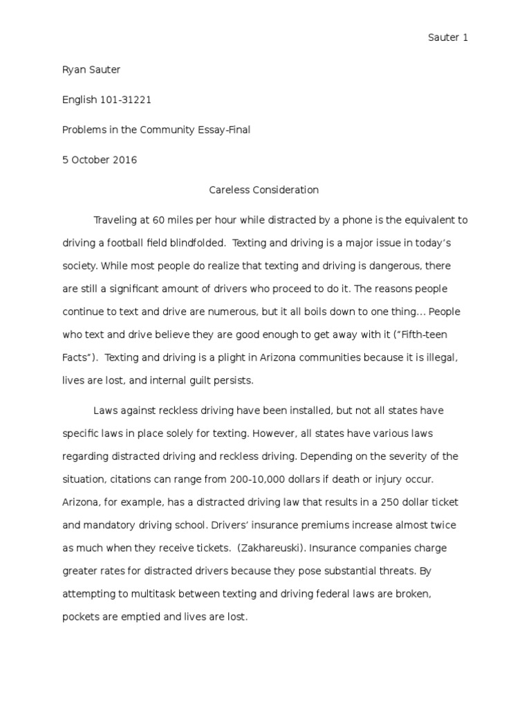 dangers of reckless driving essay Reckless driving essay reckless driving is one of the major i will first review the dangers and risks of driving to let you know what your getting.