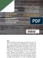 Dönhoff, Marion Gräfin - ›Um Der Ehre Willen‹. Erinnerungen an Die Freunde Vom 20. Juli