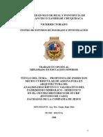 Analisis Descriptivo y Valorativo Del Patrimonio Simbolico