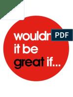 No seria genial si...