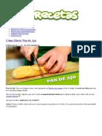 Cómo Hacer Pan de Ajo