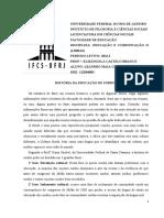 Trabalho - História Da Educação de Surdos - Educ. e Com. II (Libras) 2016.1 (Leandro Maia)