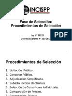 Procedimientos de Seleccion Ley Contrataciones con el Estado Peru
