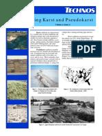 Technos_Characterizing Karst and Pseudokarst