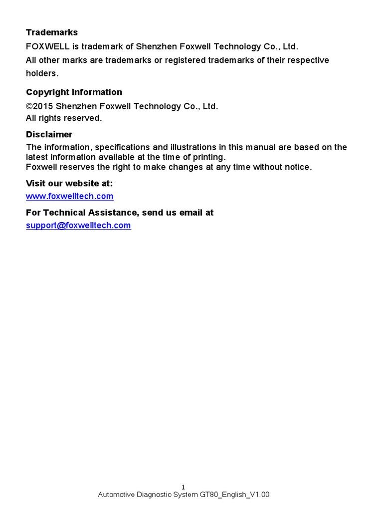 Automotive+Diagnostic+System+GT80+User%27s+Manual+V1.00   Image Scanner    Electrical Connector