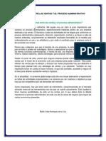 Relacion Entre Las Ventas y El Proceso Administrativo