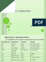 Lenguaje c Para Pics Pic 18f4550 1 Lenguaje c Tipos de Datos El Compilador