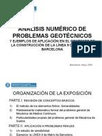 Analisis Numerico de Problemas Geotecnicos