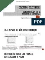 Elementos R, L y C y El Concepto de Impedancia