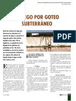 Agronomía Del Riego Subterraneo