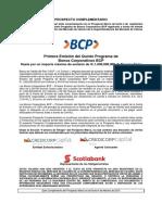 Prospecto Complementario BCP - BC 5P1ESA