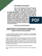 Apostila Jecrim Questionário Prof. Renato Massoni Domingues