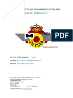 1971-03-14 Avistamiento en El Plantio-majadahonda