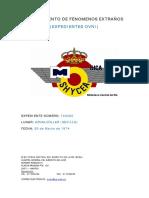 1974-03-20 Avistamiento en Aznalcollar (Sevilla)