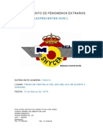 1979-03-13 Avistamiento de Traza en Las Pantallas Del Ala de Alerta y Control