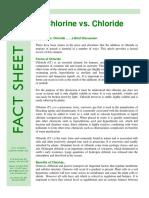 Chlorine vs Chloride