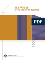 WorkRelated Fatigue Indicative Research 2006