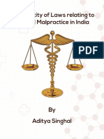 Veracity of Laws Relating to Medical Malpractice in India