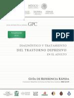 Diagnóstico y Tratamiento Del Trastorno Depresivo en El Adulto GRR