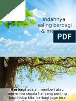 Saling Berbagi Dan Memberi - Nurcahyani Dwi R (8105151386)