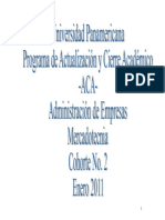 Cohorte Administracion de Empresas Zacapa