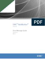 NetWorker 9.0 Error Message Guide