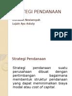 Strategi Pendanaan