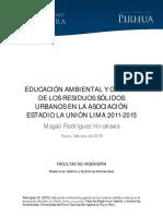Educacion Ambiental y Gestion de Los Residuos Solidos Urbanos en La Asociacion