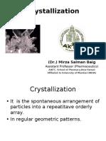 Crystallization Sb