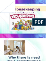 2016 Lesson 1 - Introduction to Hotel Housekeeping