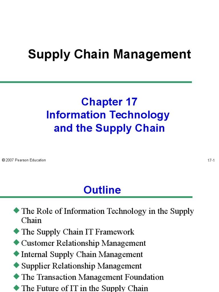 supplier relationship management framework