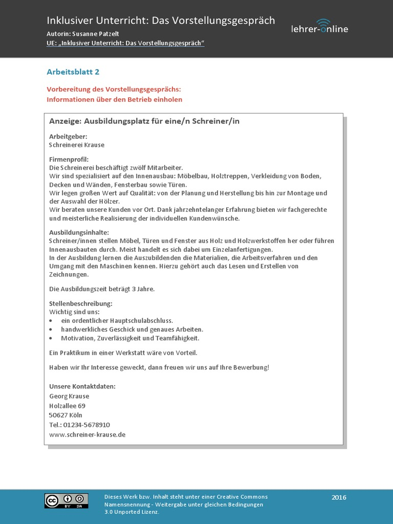 Inklusion Vorstellungsgespraech 2