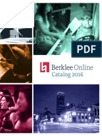 Berklee Online Degree and Course Catalog