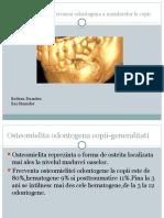 Osteomielita Acuta Si Cronica Odontogena a Maxilarelor La