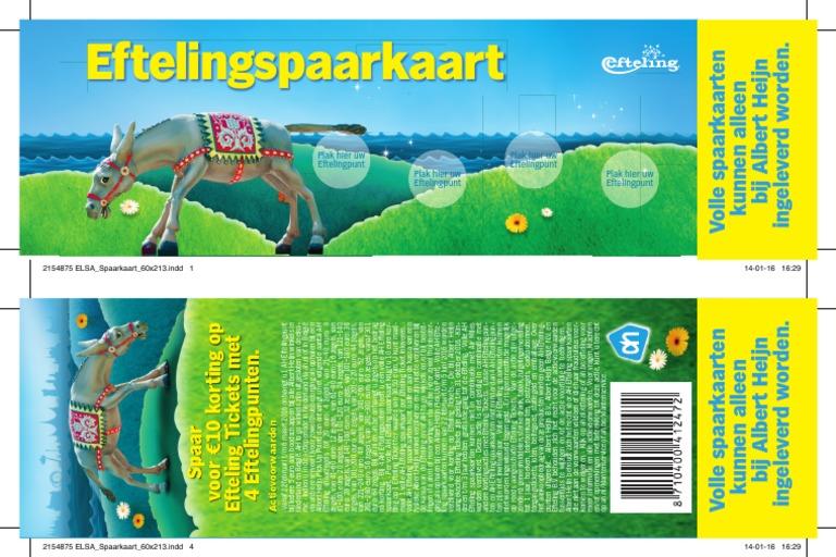 Albert Heijn Efteling Spaarkaart.001464820 001 Efteling Spaarkaart