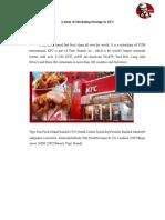 A Study of Marketing Strategy in KFC