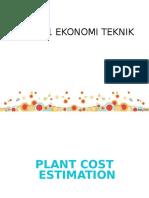 162829_3. Plant Cost Estimation