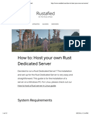 How to: Host Your Own Rust Server — Rustafied | Command Line