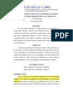 LA VILLA CANÓNICA SEGÚN LOS AGRÓNOMOS LATINOS Y  SU CONSTATACIÓN ARQUEOLÓGICA EN ANDALUCÍA.