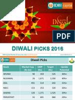 Diwali Stock Picks 2016 IDBI Capital